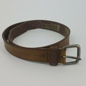 Timberland Mens Genuine Leather Brown Belt Size 32
